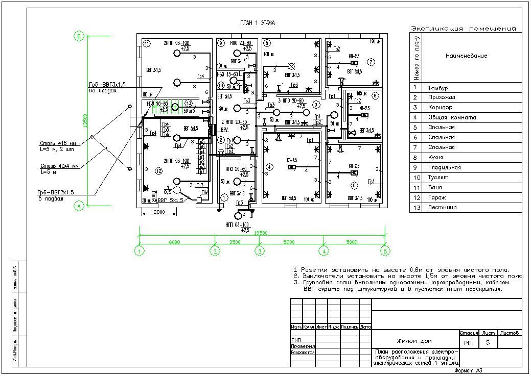 проект электроснабжение жилого